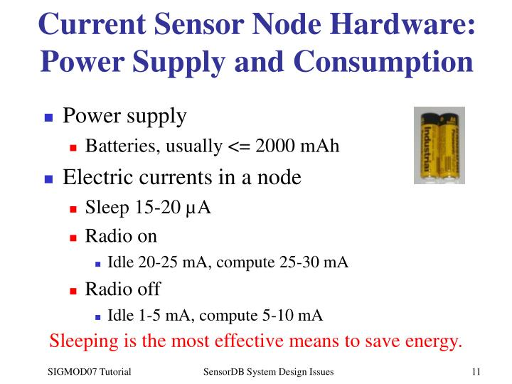 Current Sensor Node Hardware: Power Supply and Consumption