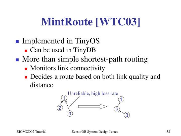 MintRoute [WTC03]