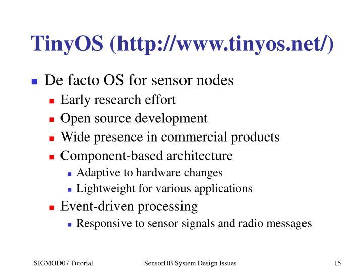 TinyOS (http://www.tinyos.net/)
