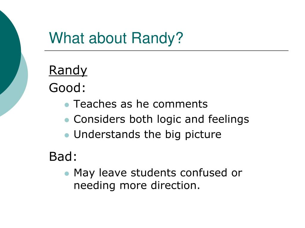 What about Randy?