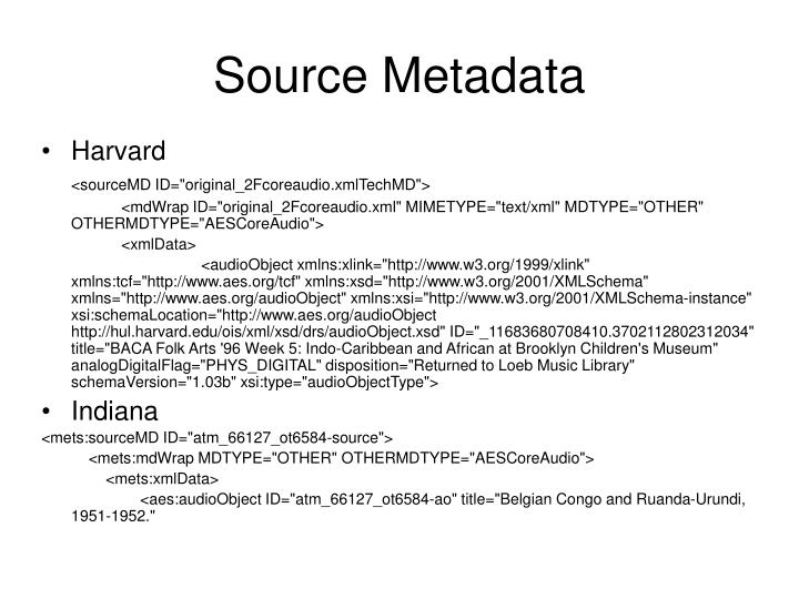 Source Metadata