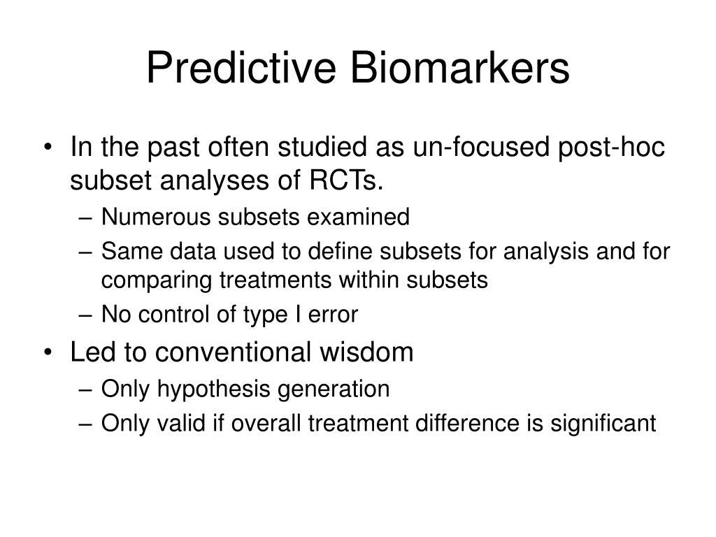 Predictive Biomarkers
