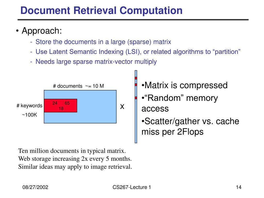 Document Retrieval Computation