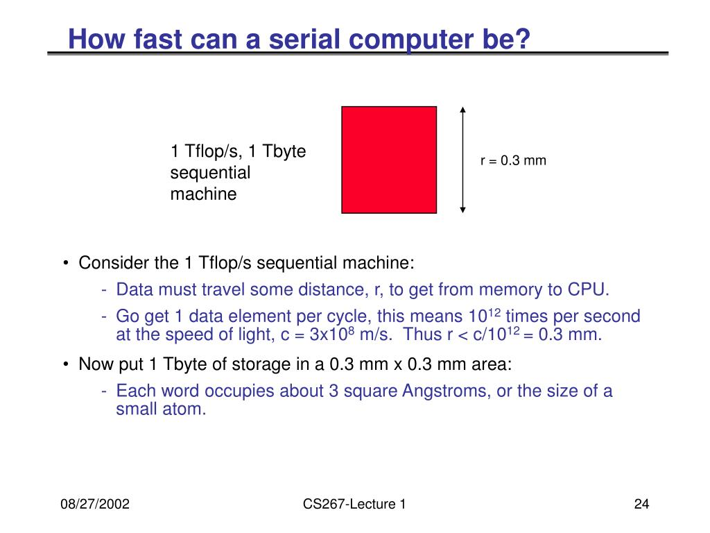 How fast can a serial computer be?
