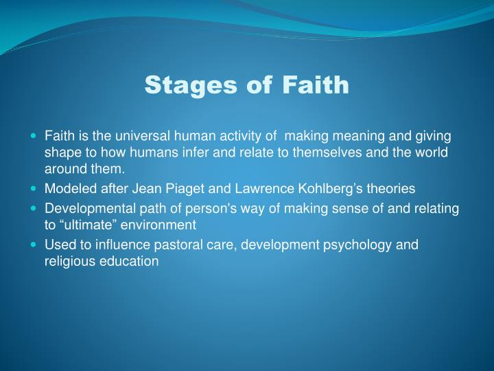 Theories of Developmental Stages - STAGES OF DEVELOPMENT