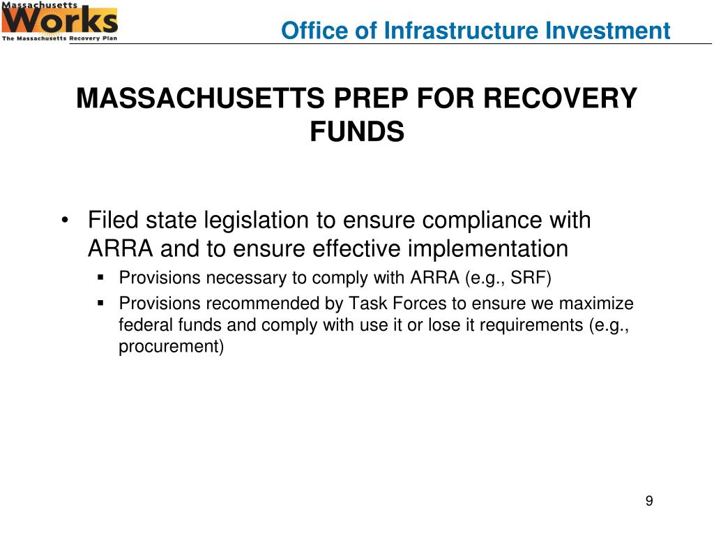 MASSACHUSETTS PREP FOR RECOVERY FUNDS