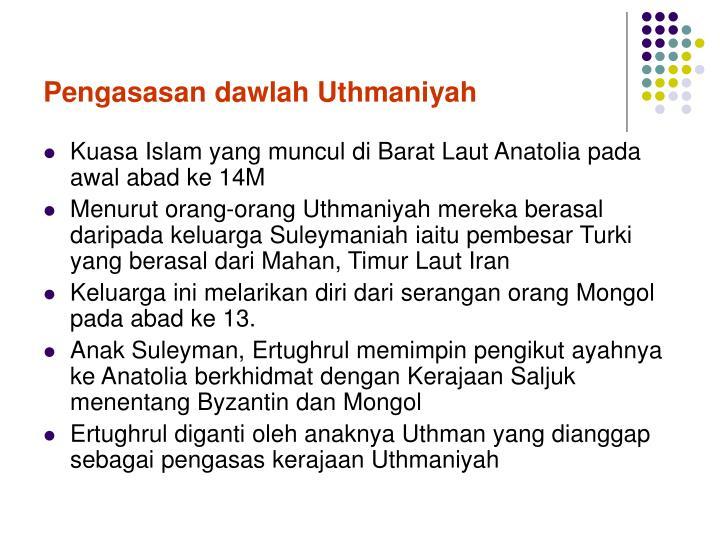 Pengasasan dawlah Uthmaniyah