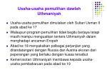 usaha usaha pemulihan dawlah uthmaniyah