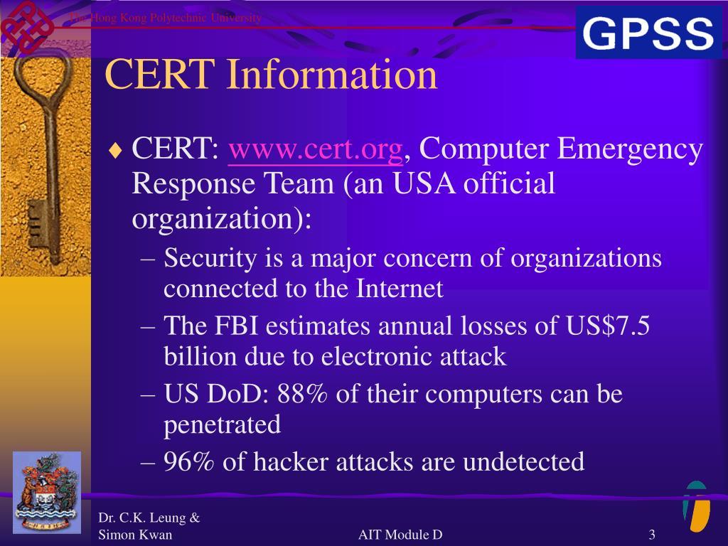 CERT Information