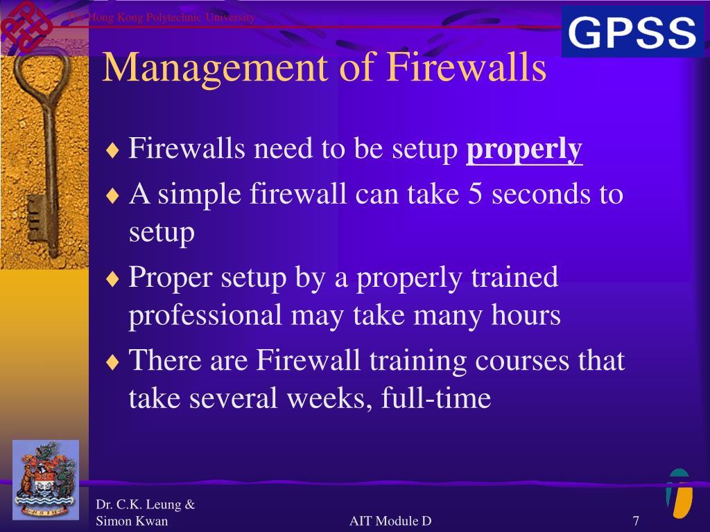 Management of Firewalls