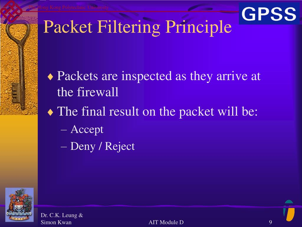 Packet Filtering Principle