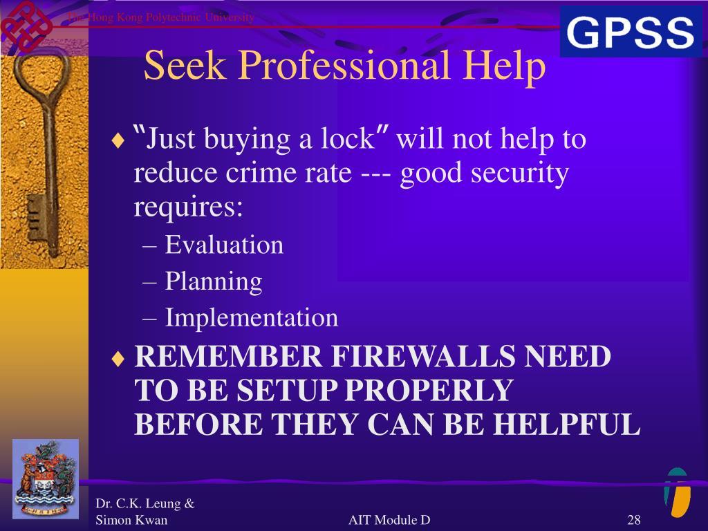 Seek Professional Help
