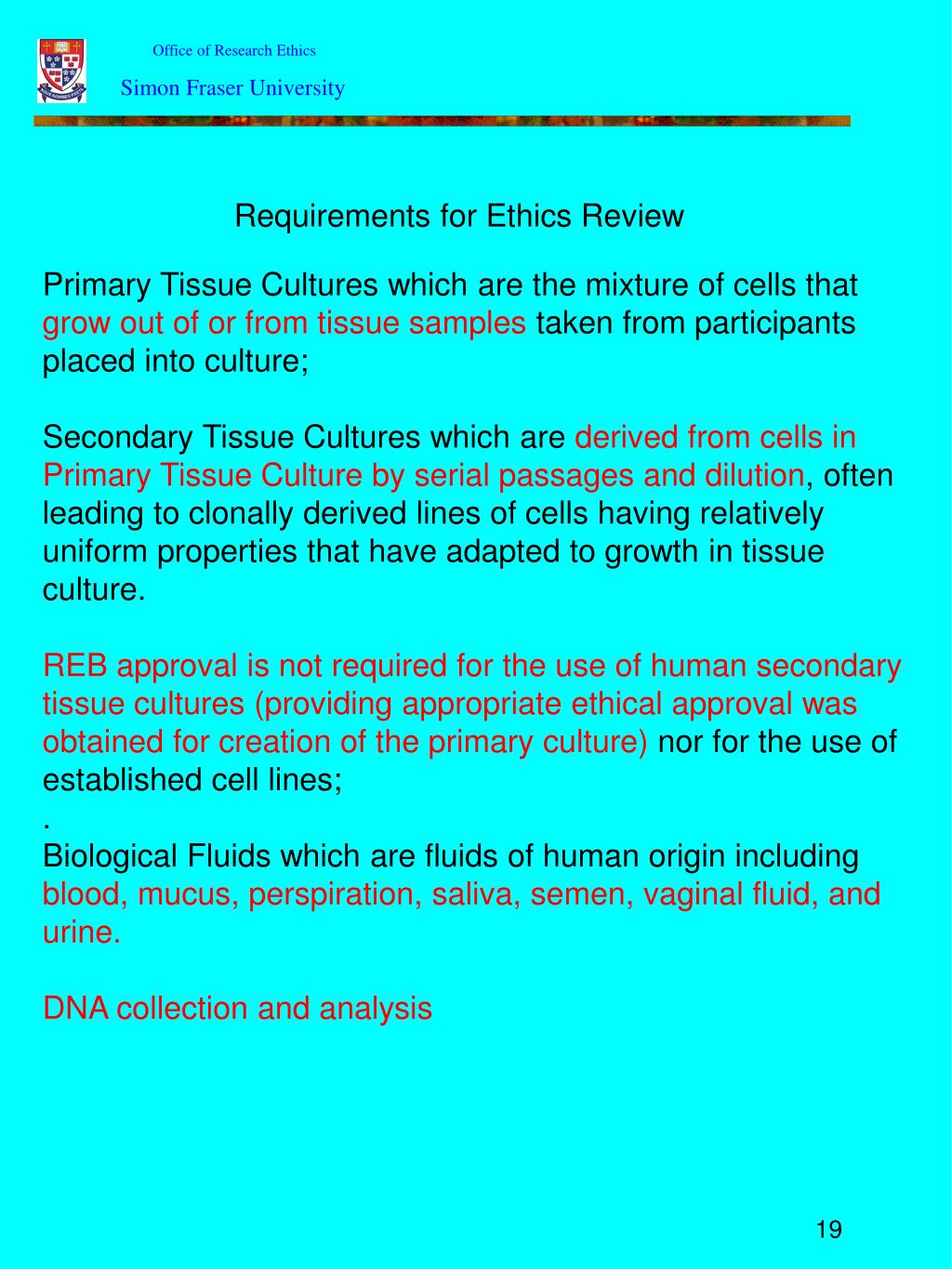 Office of Research Ethics