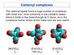 carbonyl complexes