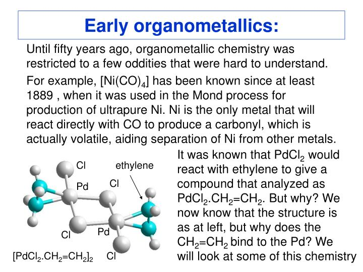 Early organometallics
