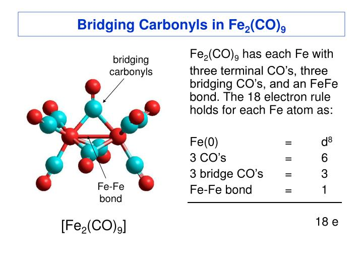 Bridging Carbonyls in Fe