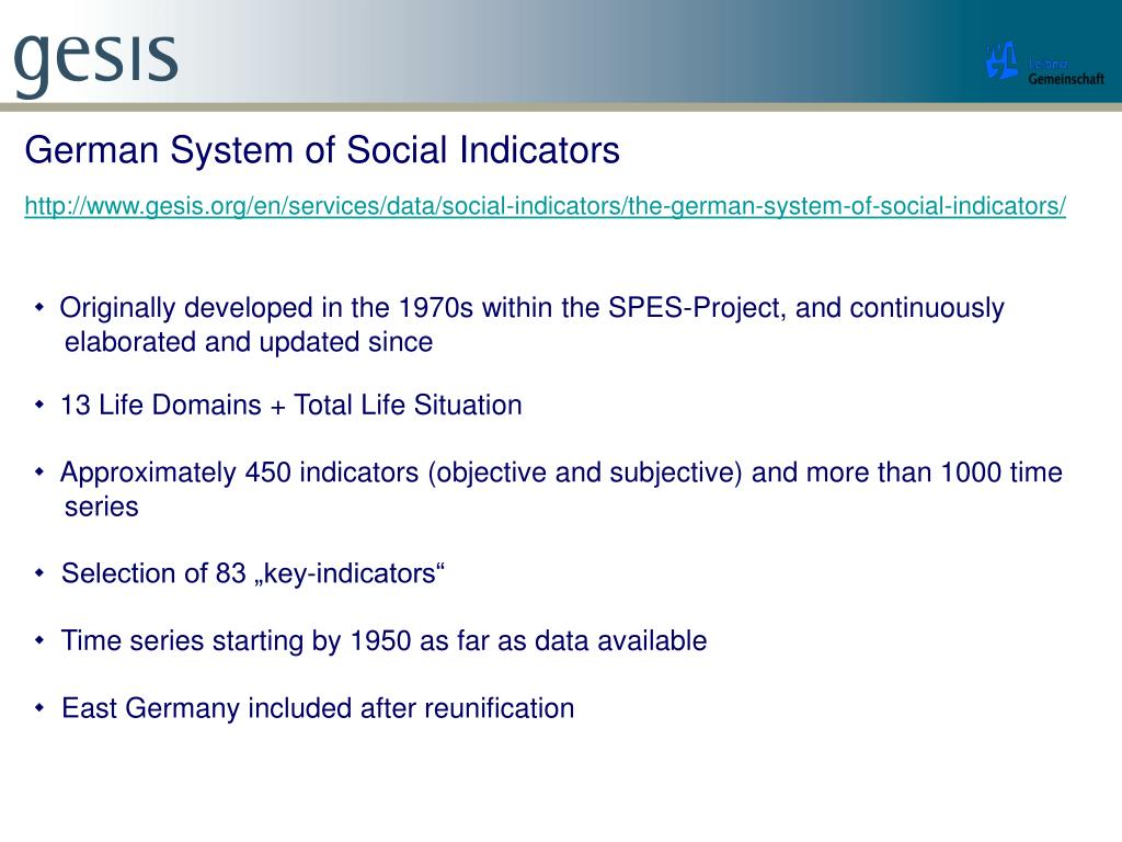 German System of Social Indicators
