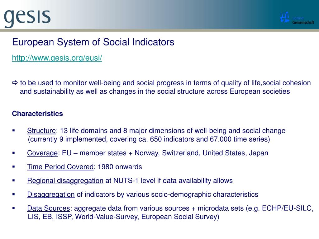 European System of Social Indicators