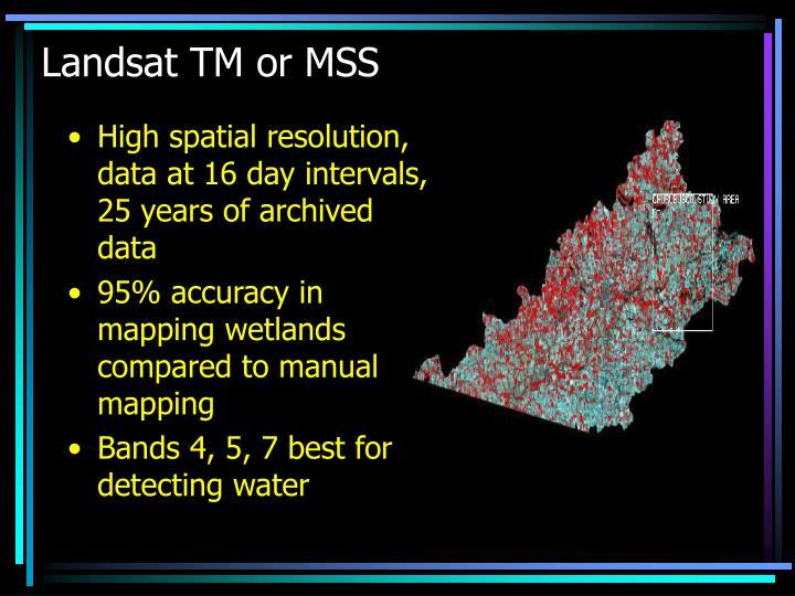 Landsat TM or MSS