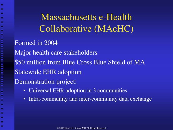 Massachusetts e health collaborative maehc