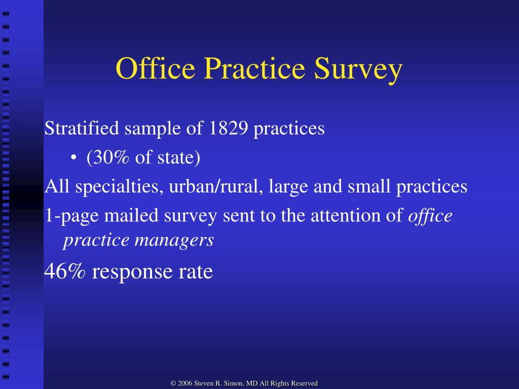Office Practice Survey