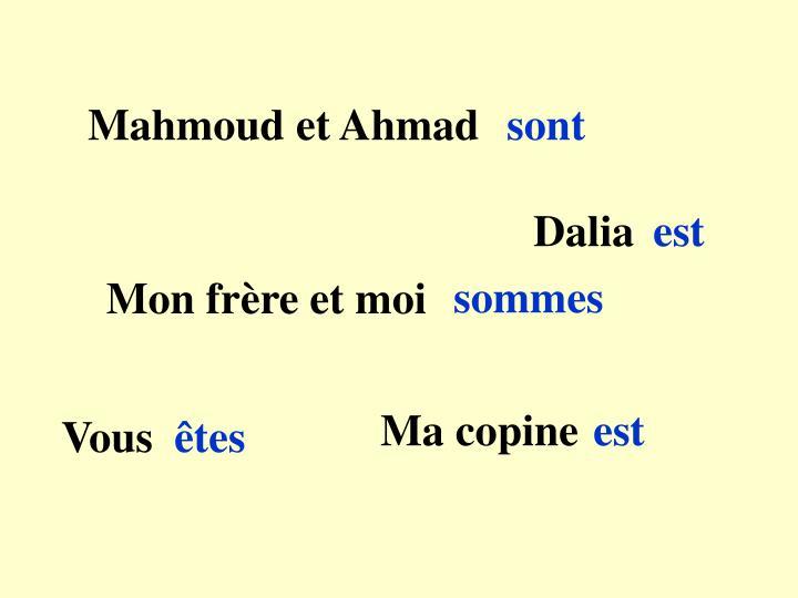 Mahmoud et Ahmad