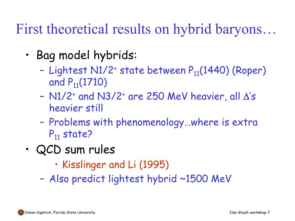 First theoretical results on hybrid baryons…
