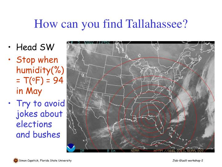 How can you find tallahassee