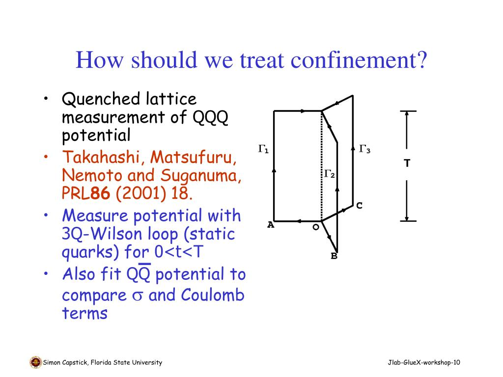 How should we treat confinement?