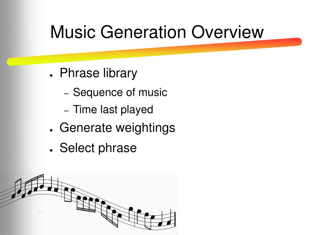 Music Generation Overview