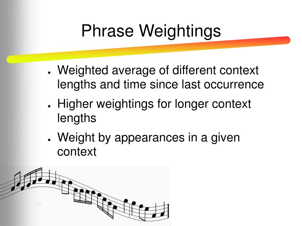 Phrase Weightings