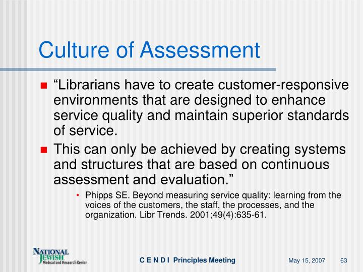 Culture of Assessment