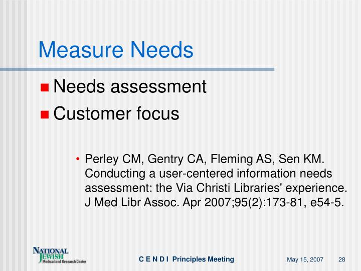 Measure Needs