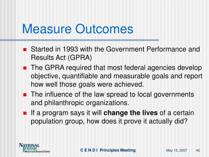 Measure Outcomes