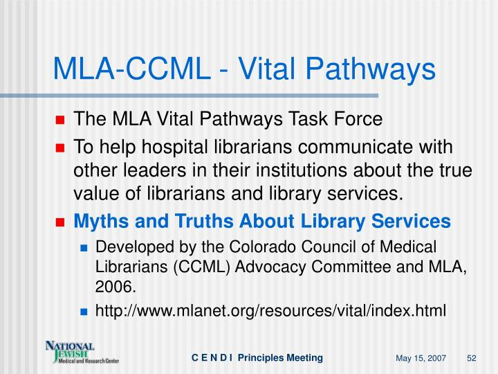 MLA-CCML - Vital Pathways