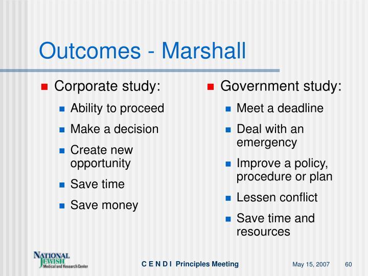 Corporate study:
