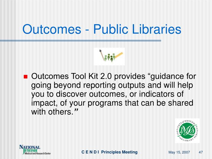Outcomes - Public Libraries