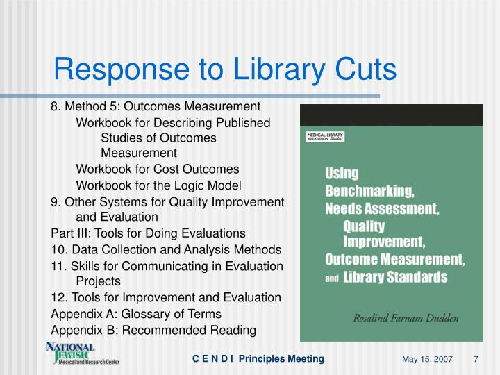 Response to Library Cuts