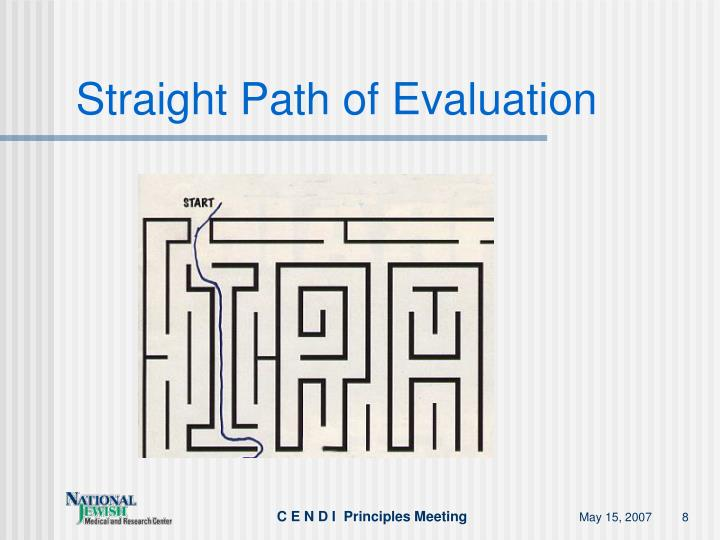 Straight Path of Evaluation