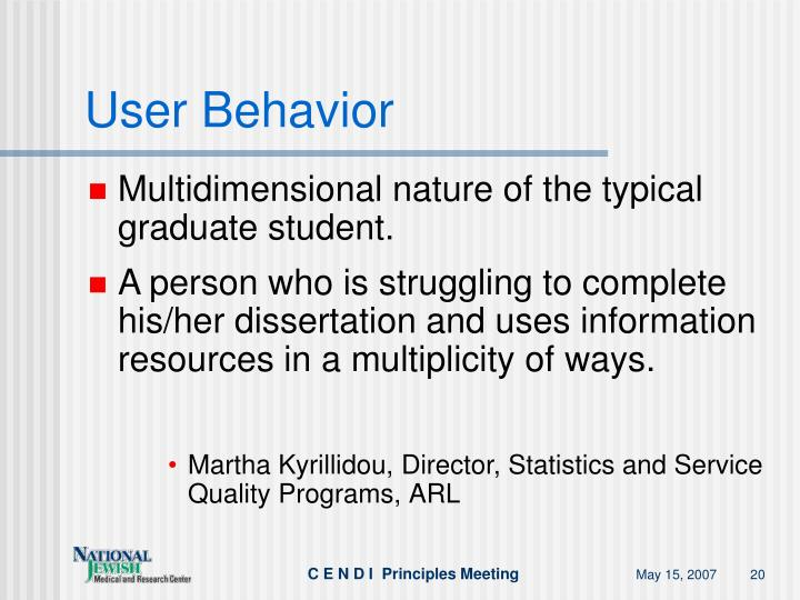 User Behavior