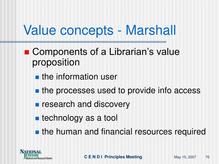 Value concepts - Marshall