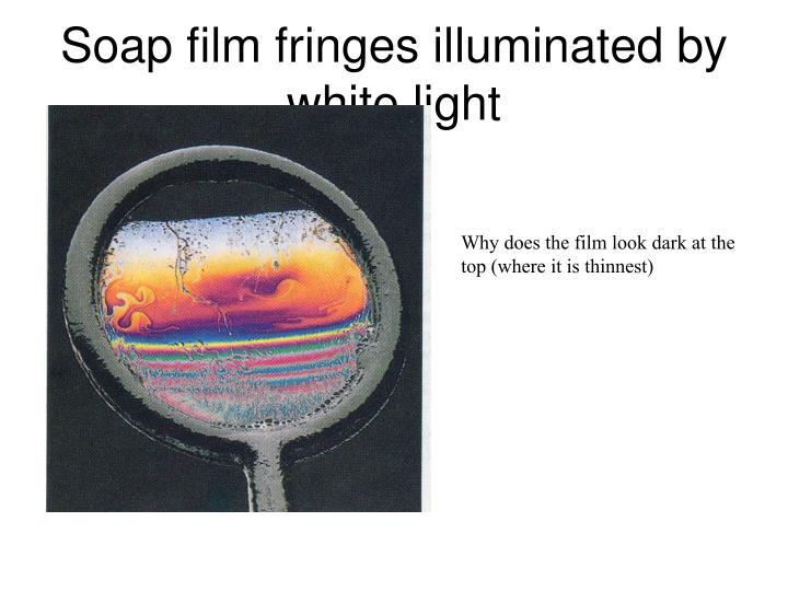 Soap film fringes illuminated by white light
