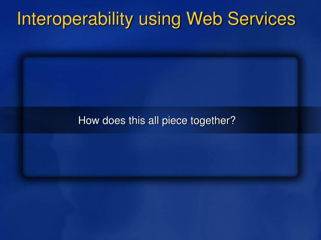Interoperability using Web Services