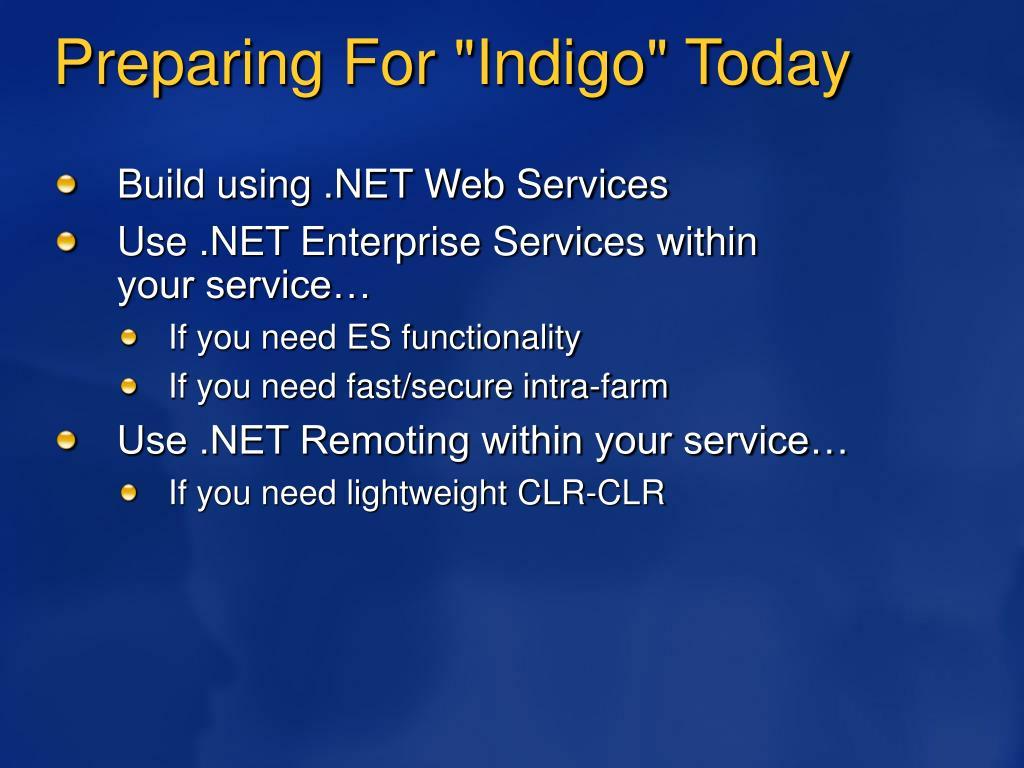 "Preparing For ""Indigo"" Today"