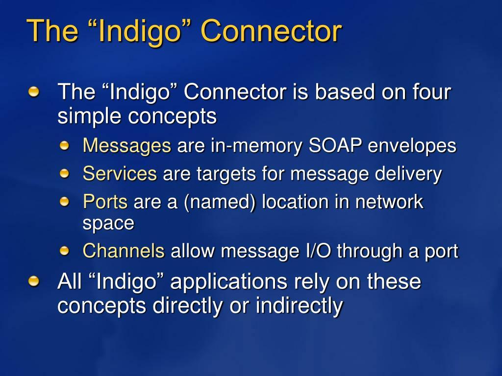 """The """"Indigo"""" Connector"""