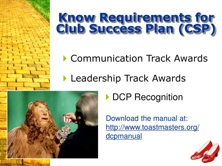 Know Requirements for Club Success Plan (CSP)