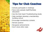 tips for club coaches