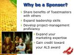why be a sponsor