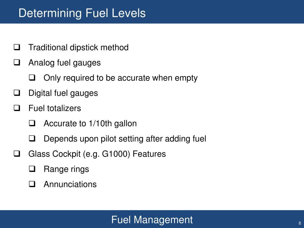 Determining Fuel Levels
