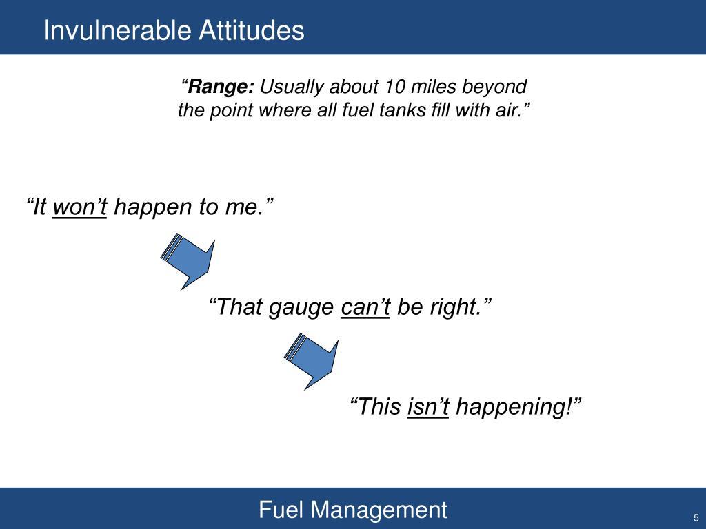 Invulnerable Attitudes